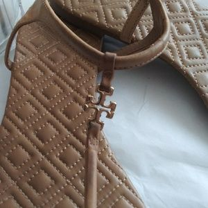Tory Burch Marion Quilted Thing Sandals Nude 9.5